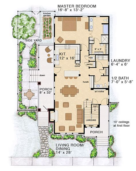 coastal floor plans bungalow coastal cottage country farmhouse traditional house plan 30501