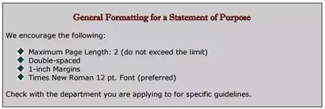 Mizzou Mba Personal Statement by What Is The Standard Writing Format Of A Statement Of