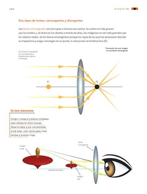 lentes divergentes en las lentes divergentes las im 225 genes ciencias naturales 6to grado by rar 225 muri page 122 issuu