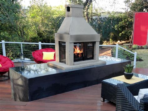 outdoor fireplace gas propane vs gas for an outdoor fireplace hgtv