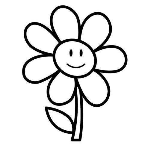 easy coloring pages for kindergarten flower coloring sheets for kindergarten coloring pages