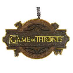 Christmas Tree Out Of Ornaments - game of thrones tv show logo 3 3 4 inch christmas ornament kurt s adler game of thrones