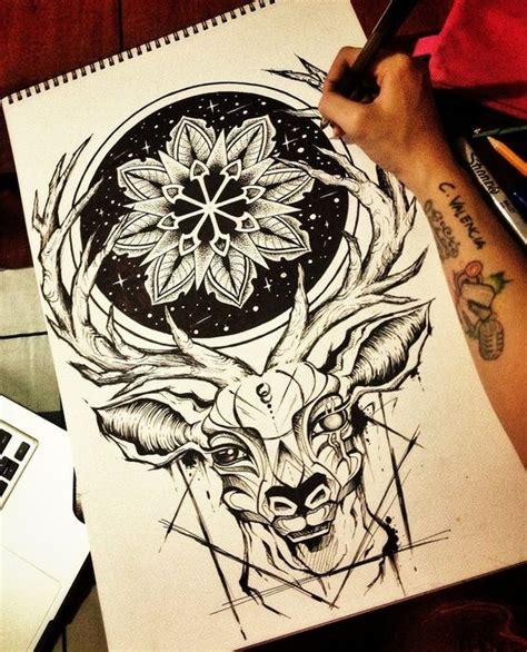 tattoo mandala deer the o jays deer and mandalas on pinterest