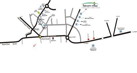 tatvam villa layout plan tatvam villas gurgaon location map sohna road