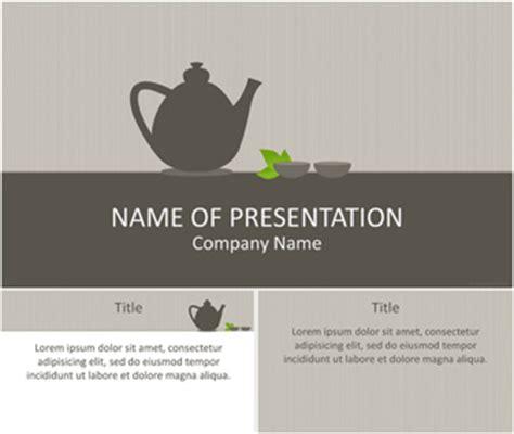 Tea Time Powerpoint Template Templateswise Com Tea Ppt Template Free