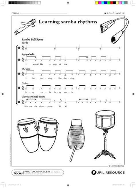 samba rhythm patterns  patterns