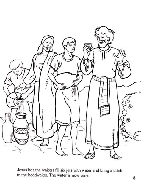 coloring pages jesus first miracle miracles of jesus coloring pages coloring pages