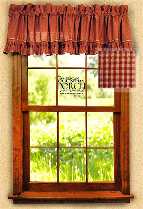 wine curtains valances wine mini check ruffled window curtain valances