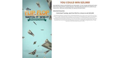 Winit Sweepstakes - hgtv com fliporflop hgtv flip or flop watch it win it sweepstakes