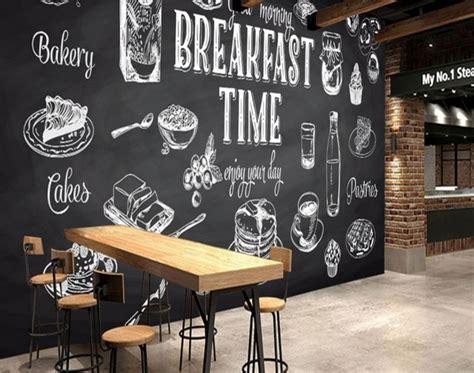 populer gambar hitam putih dinding cafe