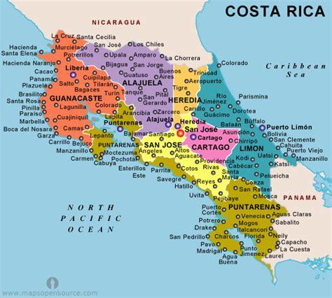 map costa rica costa rica karte st 228 dte