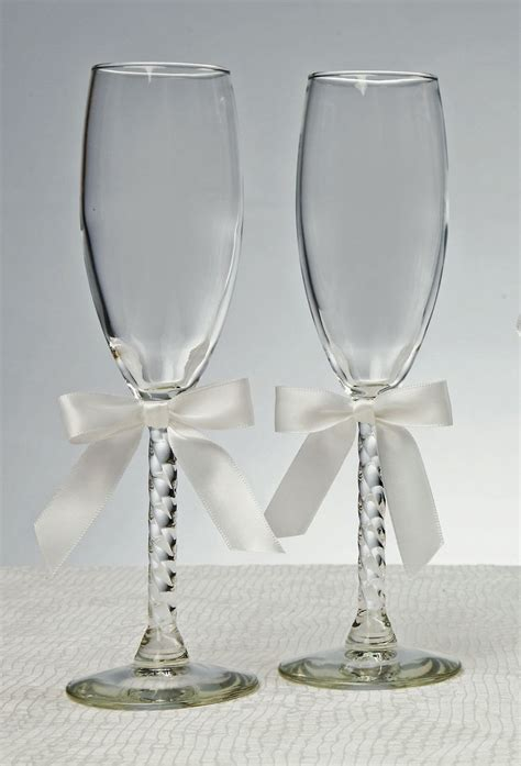 Wedding Glasses by 2 Engraved Wedding Glasses Personalized Chagne Glasses