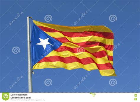 Flag Independence catalan flag independence separatist flag waving in blue