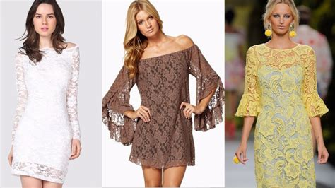 vestidos de encaje tendencia ropa de moda mujer  youtube