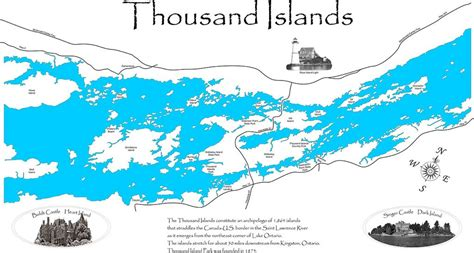 map thousand islands thousand islands wood laser cut map