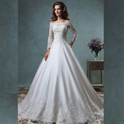 beaded lace wedding dress graceful 2016 new charming sleeve white beaded