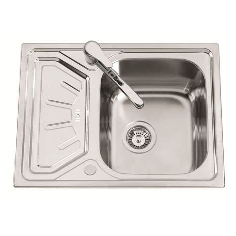 Sterling Hipno Sink Bowl And Drainer 650mm X 500mm Kitchen Sink Drainers