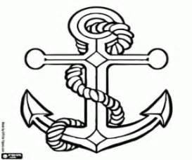 seafarer anchor coloring printable game