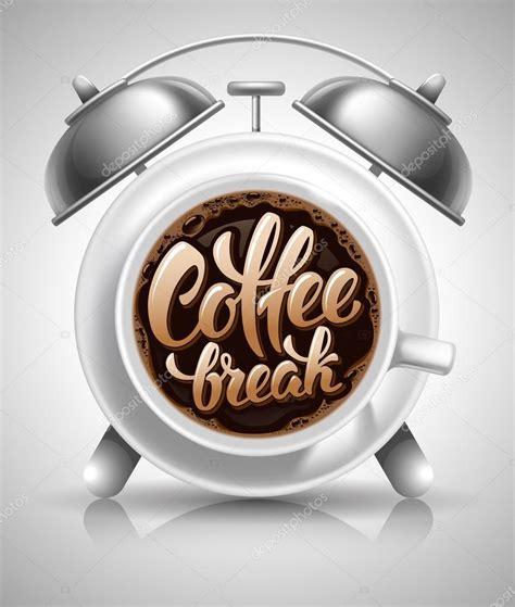 home design coffee break projeto de conceito de coffee break vetor de stock