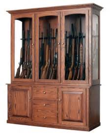 deluxe 20 gun cabinet from dutchcrafters amish furniture