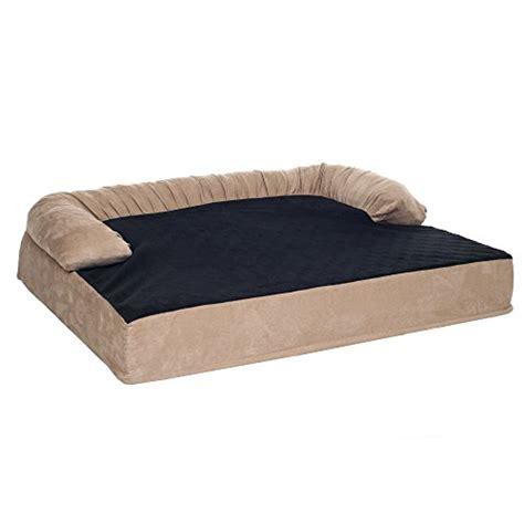 orthopedic memory foam dog bed petmaker orthopedic memory foam pet bed with bolster