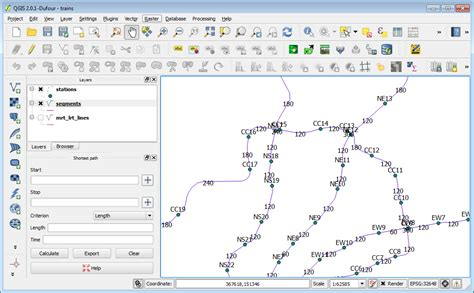 qgis road graph tutorial dominoc925 simple shortest path analysis using qgis road