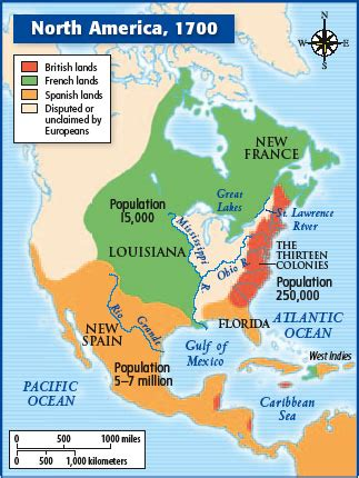 pattern of french settlement in north america mr ramirez s history blog map of north america 1700