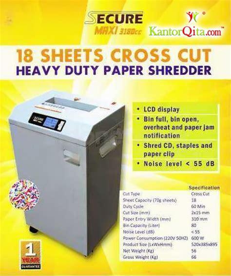 Mesin Penghancur Kertas Secure mesin penghancur kertas paper shredder secure maxi 3180 cc