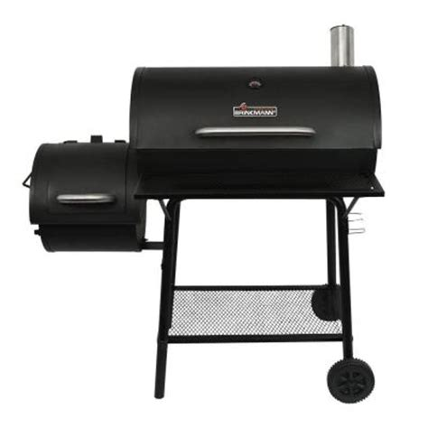 charcoal grill and set smoker