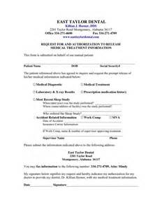 medical records release form for sleep apnea in word and