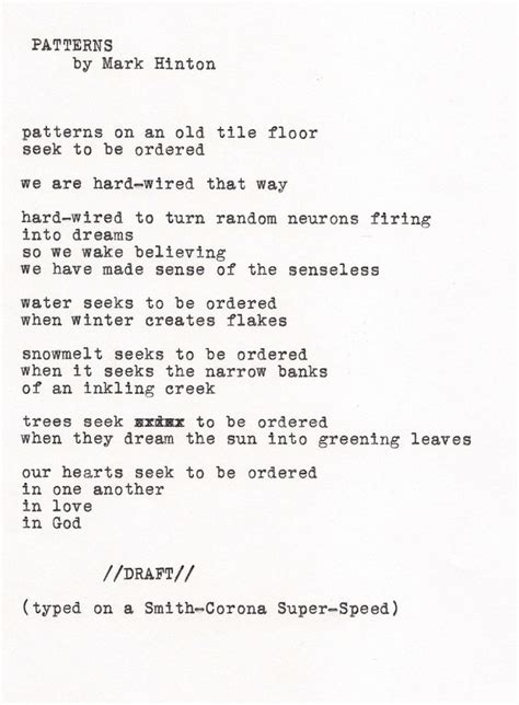 pattern poetry year 1 mark hinton poem quot patterns quot