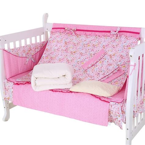 Warm Crib Sheets by Warm And Comfortable Pink Floral Pattern Crib Bedding Set