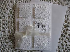 handmade wedding cards handmade greeting card embossed wedding happy i do day