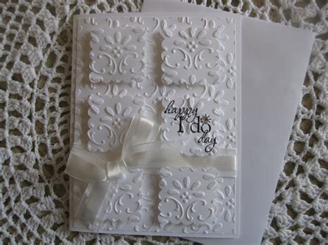 Handmade Wedding Cards - handmade greeting card embossed wedding happy i do day