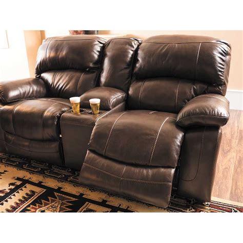 damacio sofa and loveseat damacio leather reclining gliding console loveseat 0s0