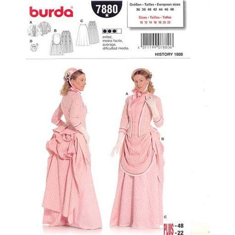 pattern parts net review burda historic dress 1888 7880 pattern review by jaspey