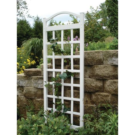 duratrel 76 in x 28 in white vinyl pvc cambridge trellis