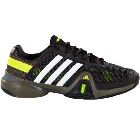 adidas tennis shoes adidas barricade 8 s tennis shoes black white green