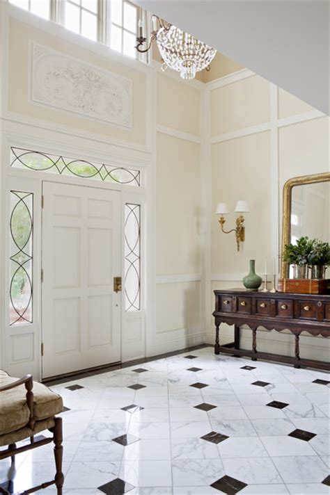 beautiful marble floor in the foyer larmar traditional entry los angeles by tim barber