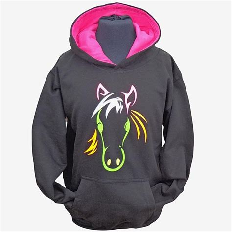 Little Girls Pink Bedroom Ideas - psychedelic horse hoodie filly and co