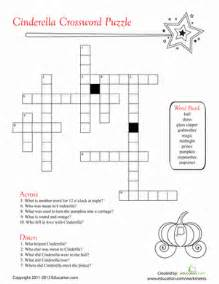 cinderella crossword puzzle worksheet education com
