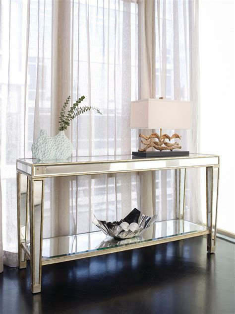 Entryway Furniture Target Entry Narrow Mirrored Console Table With Storage And Shelf