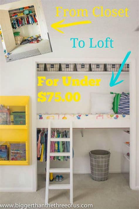 one hour kids closet transformation diy closet loft closet bed nooks and closet transformation