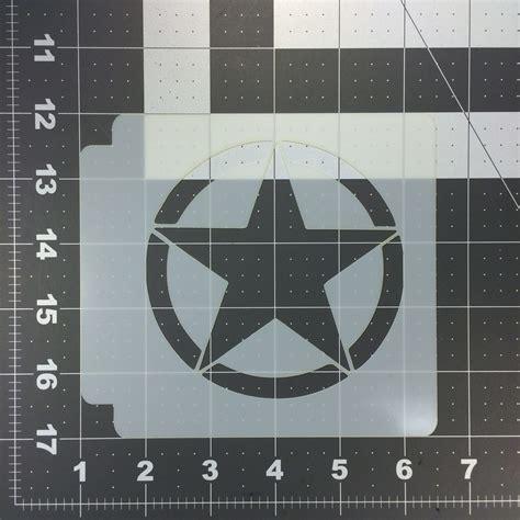 army pattern stencil army star stencil 100