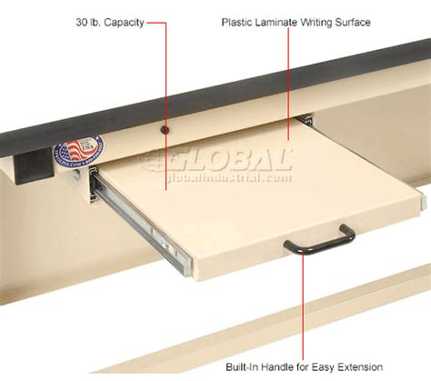 Desk With Pull Out Shelf by Work Bench Systems Adjustable Height Pull Out Writing