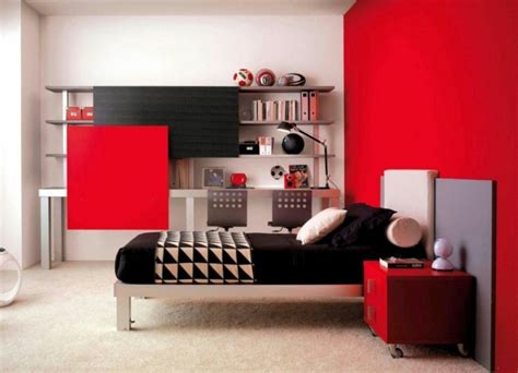 red white and black bedroom wallpaper 666 d 233 co chambre ado gar 231 on et fille en 48 id 233 es
