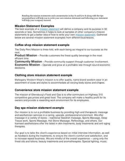 Resume Mission Statement Exles by Purpose Statement Exles Personal Purpose Statement 14