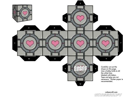 Papercraft Companion Cube - 36 best images about cubeecraft on nintendo