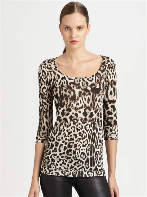 Just Cavalli Just Top Heavy by Just Cavalli Leopard Print Top In Lyst
