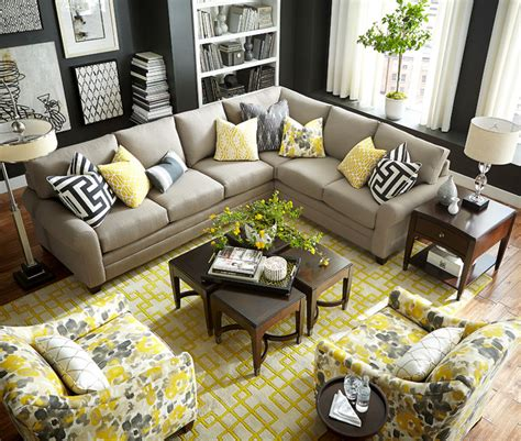home design studio bassett hgtv home design studio cu 2 l shaped sectional by bassett